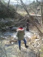 Misurazione della portata del torrente - Fosso dell'Eremo
